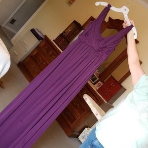 Womens purple gown